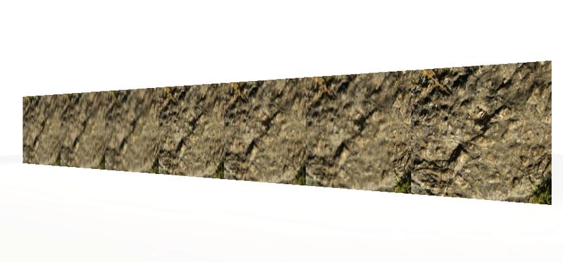 texture sur mur 3d
